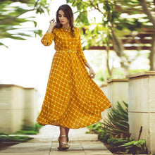 Load image into Gallery viewer, Beautiful Mustard Yellow Colored Printed Kurti