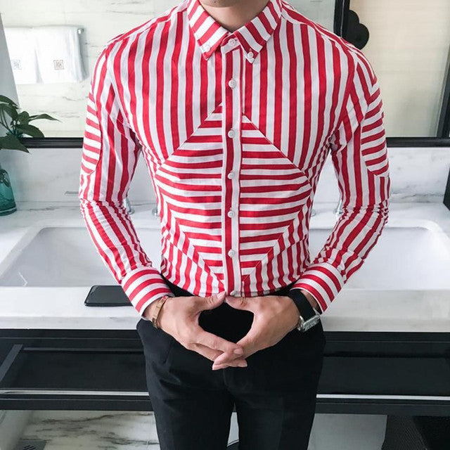 buy men shirts online - Red Color Party Wear Shirt