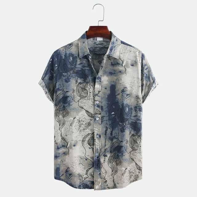 mens shirts sale online - Multi Colored Half Sleeve Casual Wear Mens Shirt