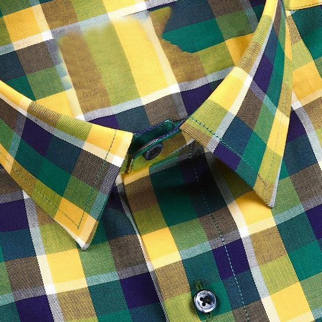 Shirts - Multi Color Checks Print Cotton Shirt