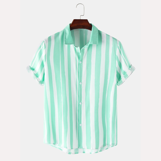 Rama Green & White Color Shirt