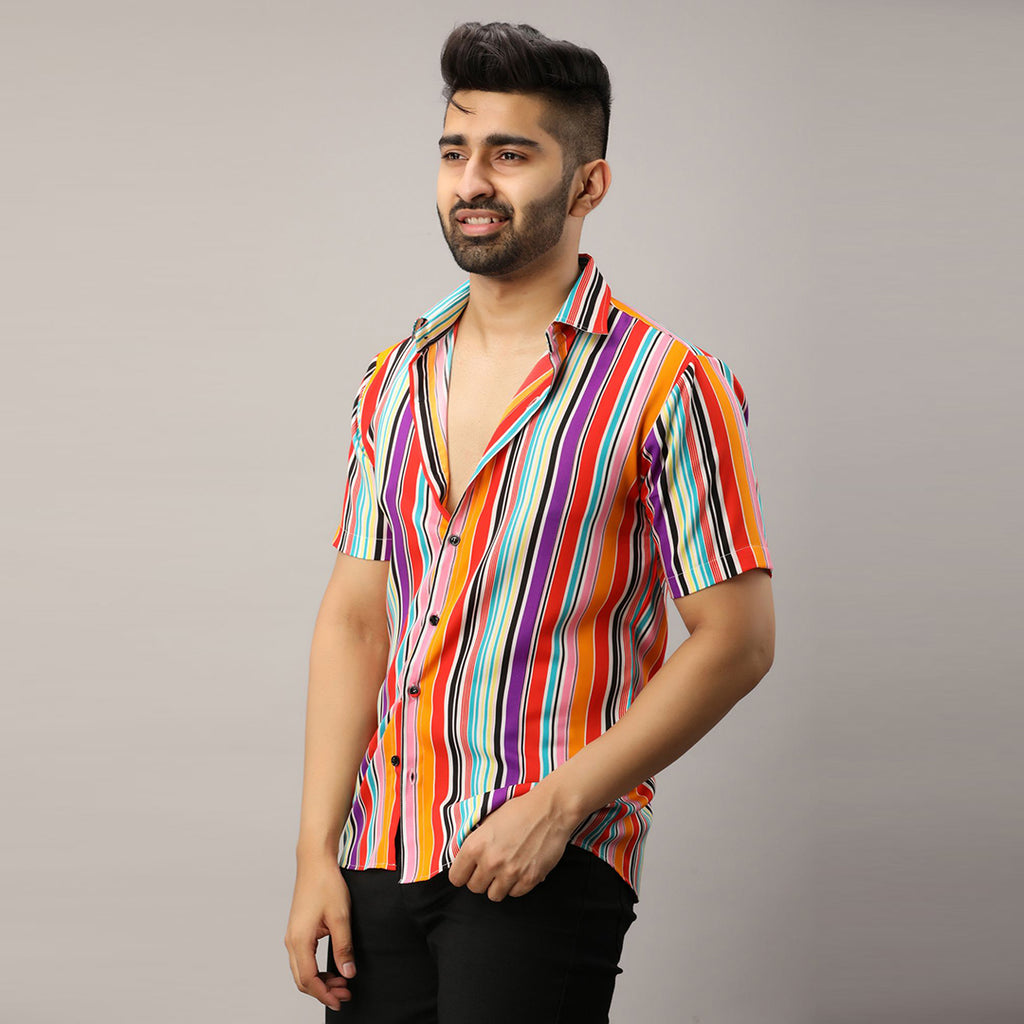Designer Cotton Multi Color Shirt