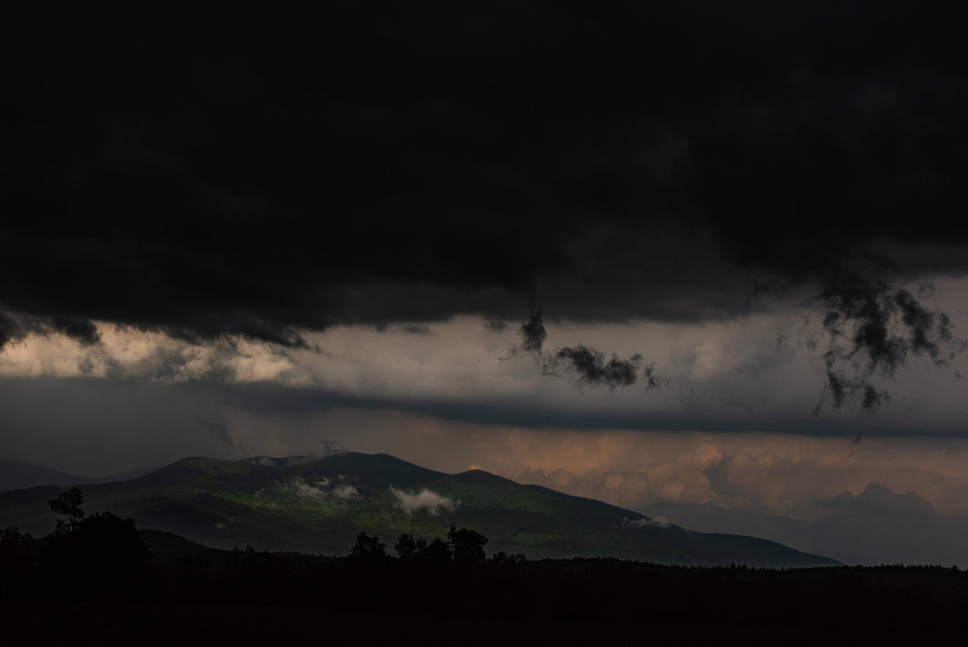 Storm clouds over Mount Waumbek