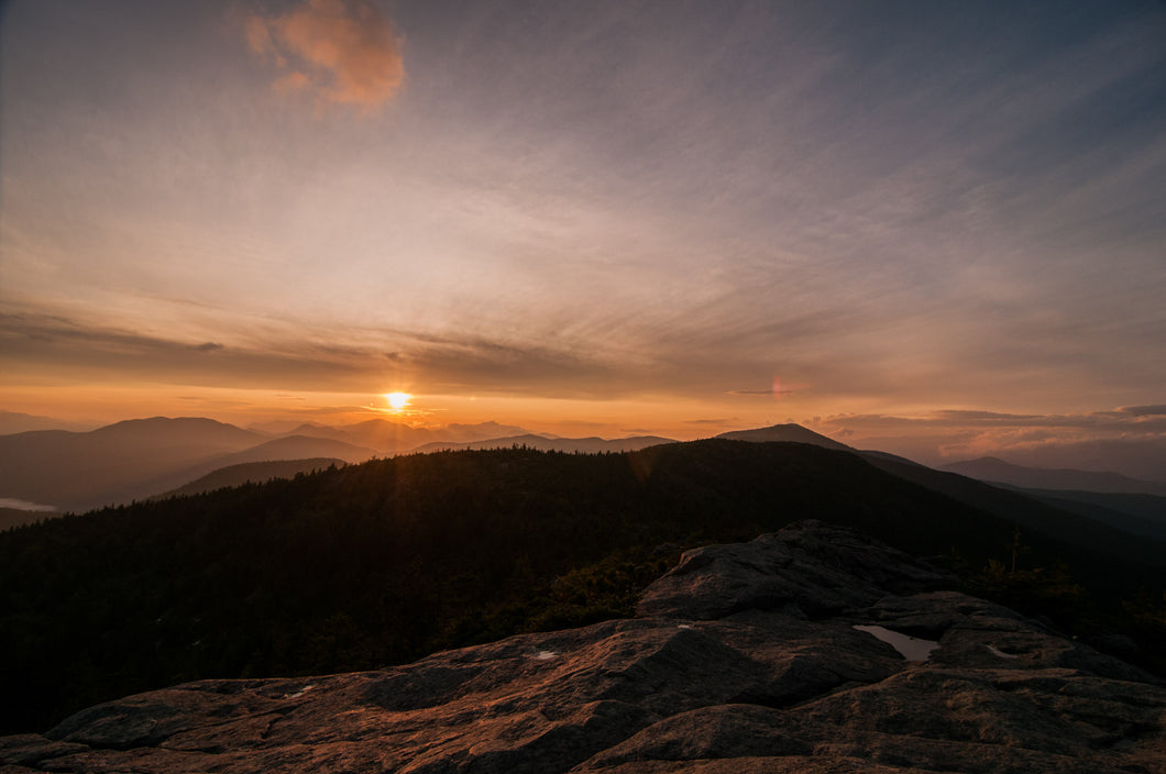 Sunset from South Moat Mountain, New Hampshire