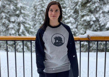 Load image into Gallery viewer, Two-tone ILL Bear Crew Sweatshirt - Black/Grey