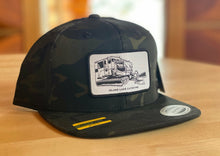 Load image into Gallery viewer, Island Lake Snow Cat Patch Cap - Black Camo