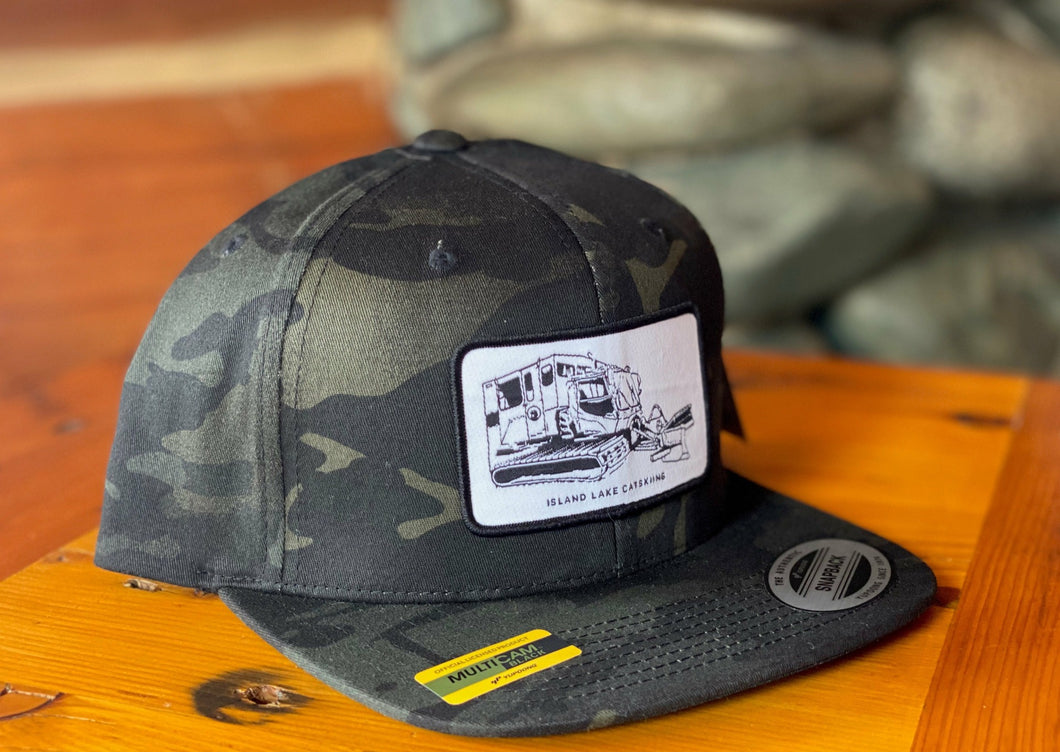 Island Lake Snow Cat Patch Cap - Black Camo