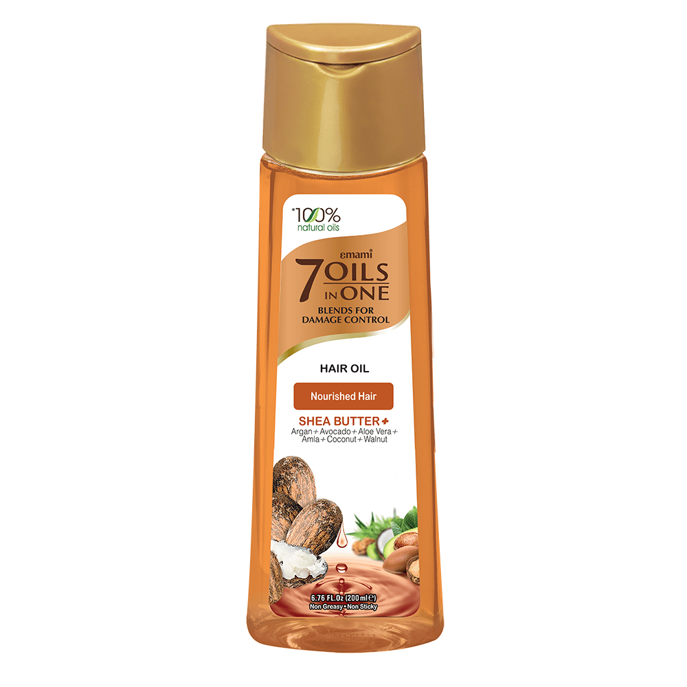 Emami - 7 Oils in One Hair Oil for Nourished Hair - Shea butter (200ml)