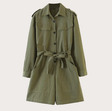 Load image into Gallery viewer, Army Style Trench Jacket