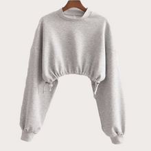 Load image into Gallery viewer, Cropped Pull-String Sweater