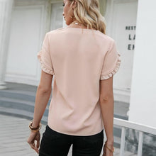 Load image into Gallery viewer, Ruffled Sleeve Top (V-Neck)