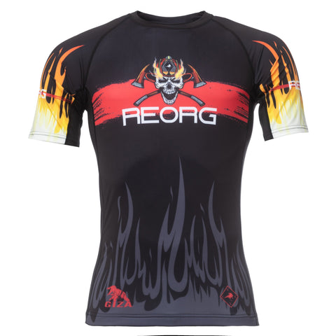 Reorg Fire SS Rash Guard