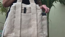 Load and play video in Gallery viewer, Organic Hemp and Cotton Backpack.