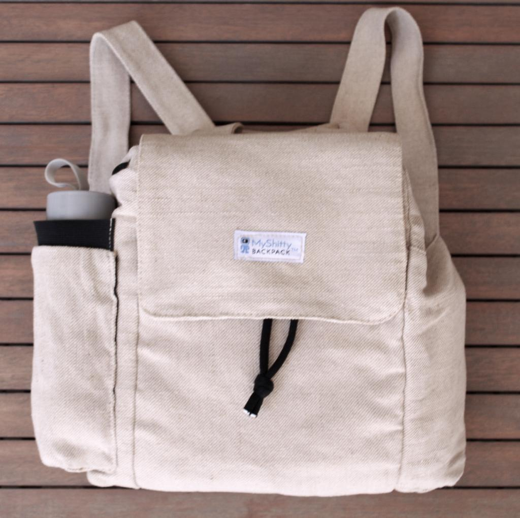 Organic Hemp and Cotton Backpack.