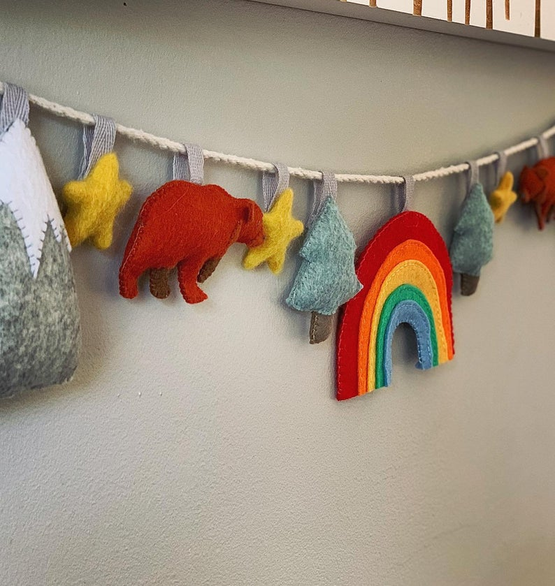 Charming Bears in the Forest Felt Bunting