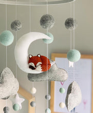 Load image into Gallery viewer, The Fox & the Moon Felt Mobile