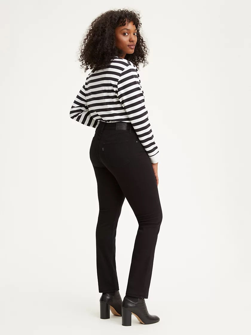 724™ High Rise - Straight Fit | black