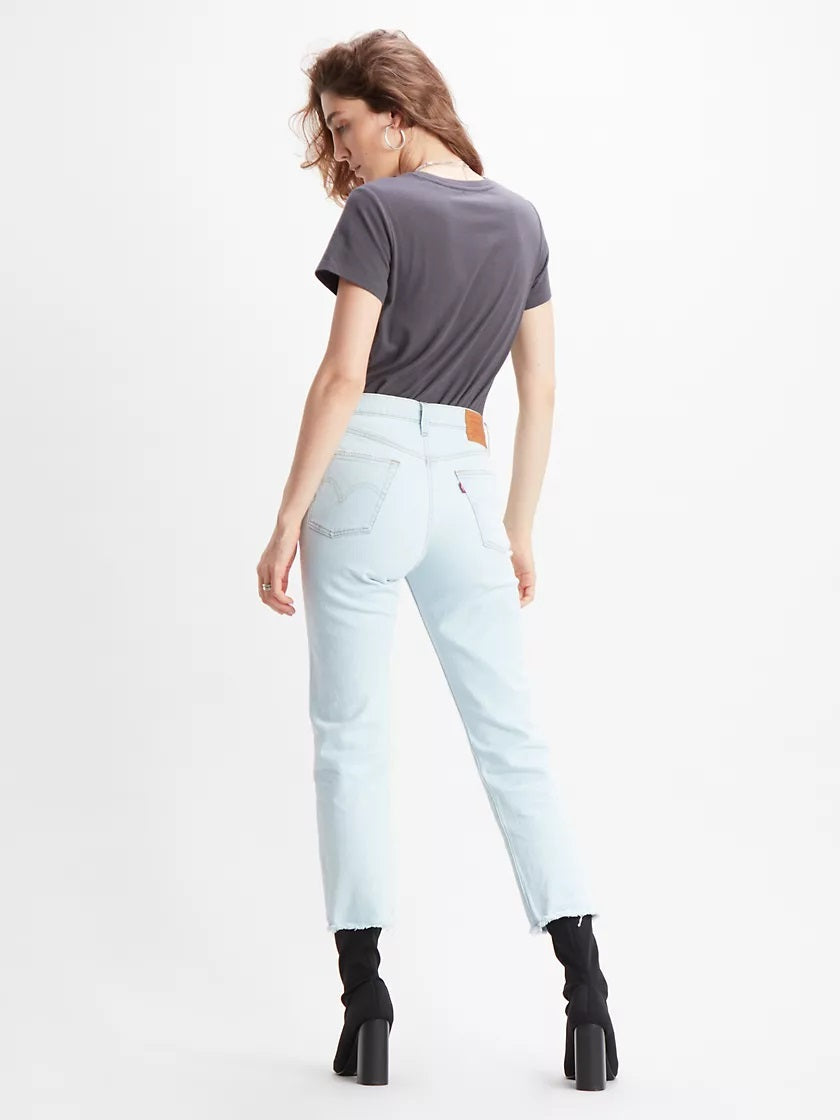 501® High Rise Straight Fit - Cropped | bleached