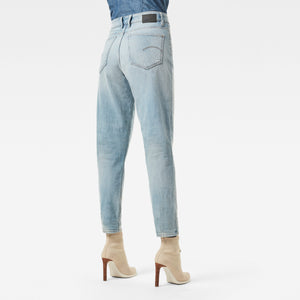 Janeh Ultra High Mom Ankle Jeans | vintage glacial blue