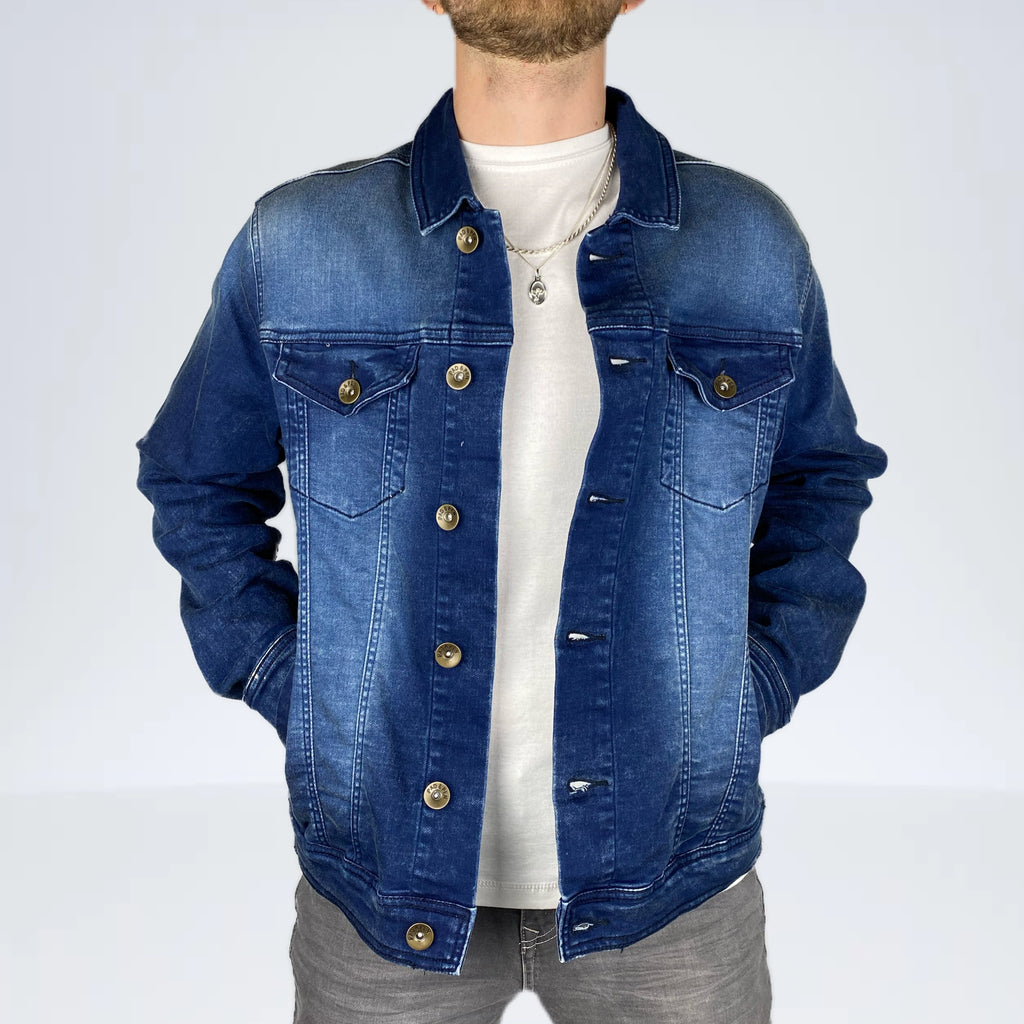 Yeans Halle Pad&Pen GROSS DENIM JACKE Dark Sea Jeansjacke ALT_1