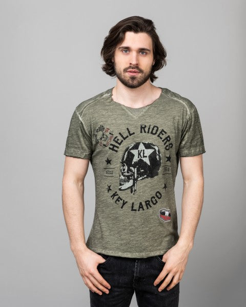 MT Hell Riders - Round Neck | khaki