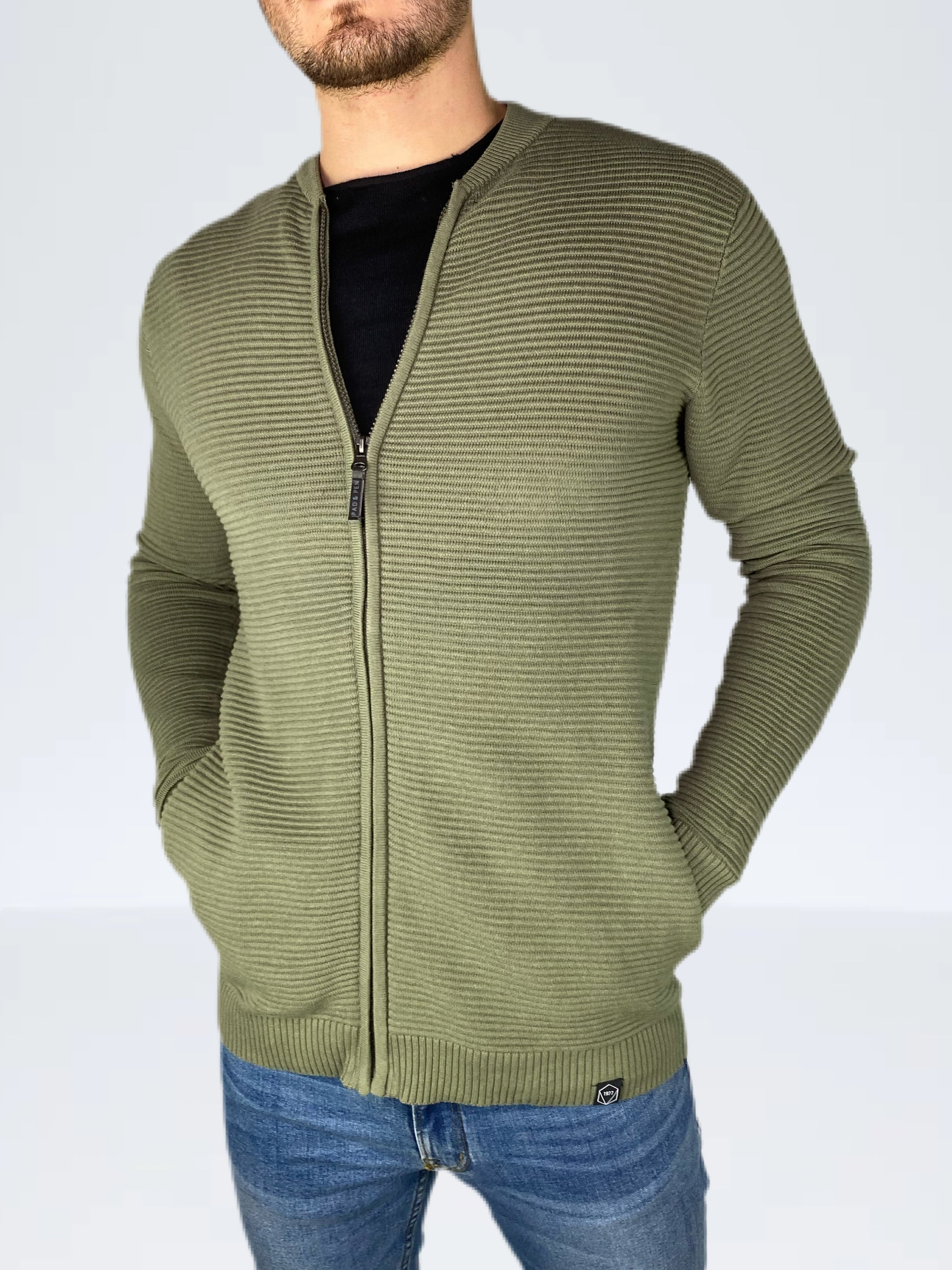 STRICKJACKE ZIP