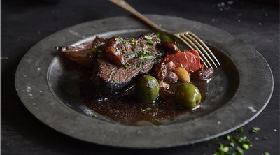 Beef with Almonds & Green Olives