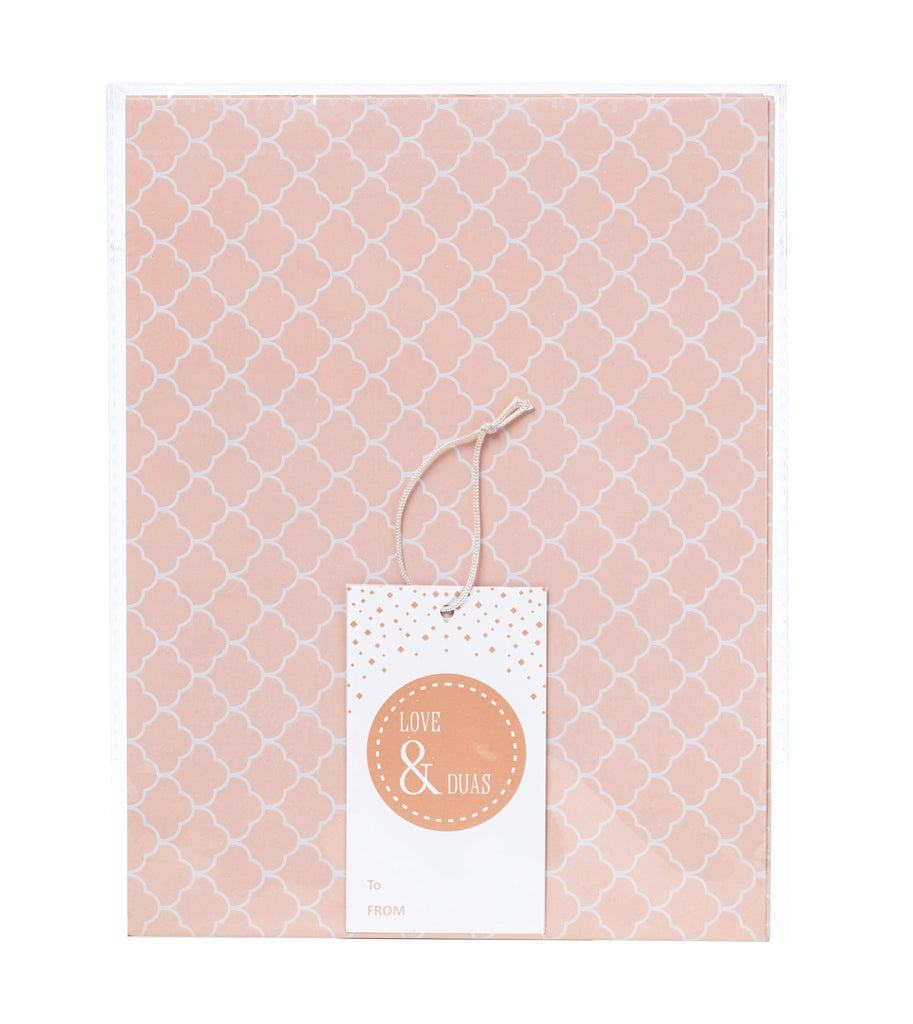 Love & Du'as Gift Wrap and Tag - Blush