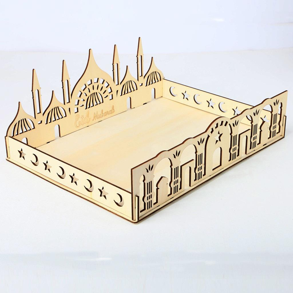Wooden Serving Tray - Masjid Design