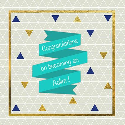Muslim Islamic Congratulation Card Quran Completion Alim Alimah