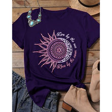 Load image into Gallery viewer, Women's Graphic t-shirts Moon Dance