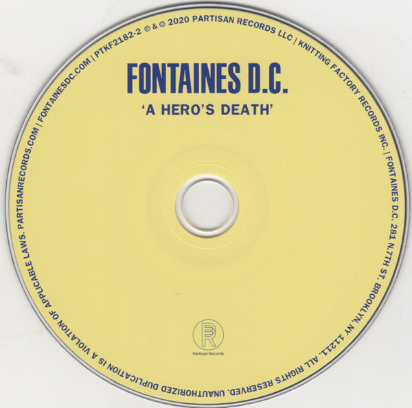 Fontaines D.C. : A Hero's Death (CD, Album)