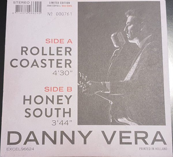 "Danny Vera : Roller Coaster (7"", Single, Ltd, Num, RE, RP, Red)"