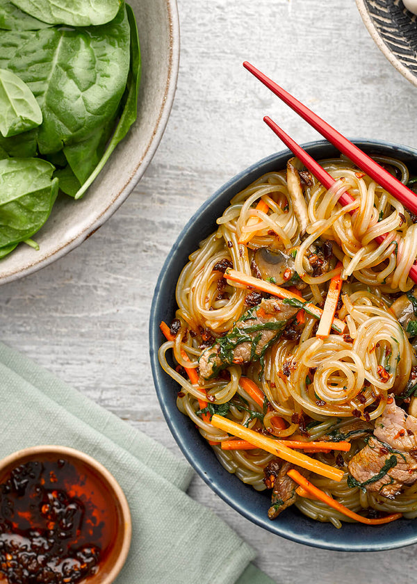 Stir-fried Beef Chuck with Korean Sweet Potato Starch Noodles Recipe