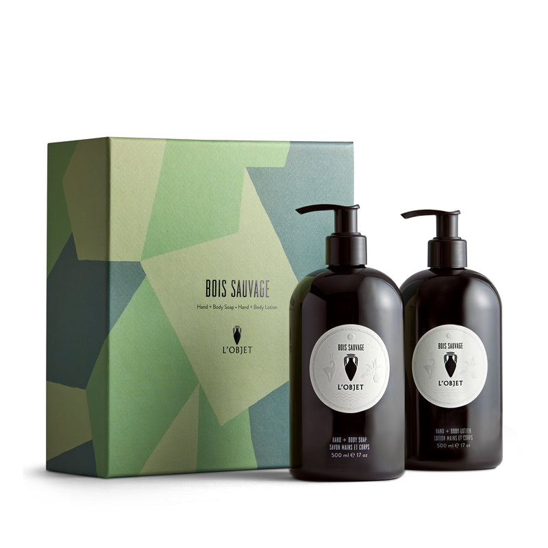 Bois Sauvage Hand and Body Soap + Lotion Gift Set