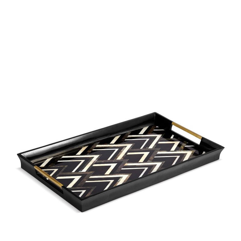Deco Noir Rectangular Tray