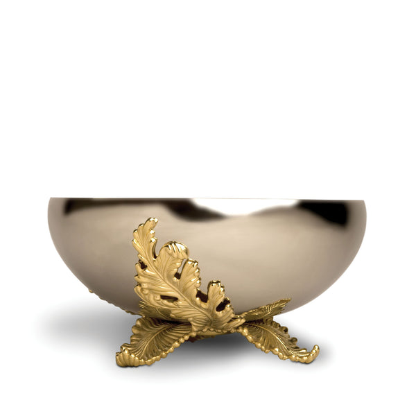 Large Lamina Bowl by L'OBJET - Creates with Metalwork and Contemporary Stainless Steel & Finished with 24K