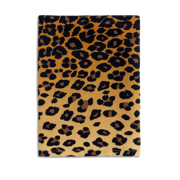 Natural Linen Sateen Leopard Napkins - Hand-Crafted in Portugal - Bold 100% Linen Woven Napkins by L'OBJET