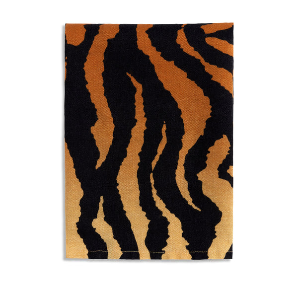 Linen Sateen Tiger Napkins in Natural - Exotic Pattern, Evocative Aesthetic - Sophisticated Linen Napkins