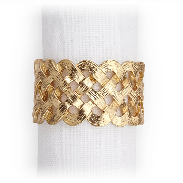 Braid Napkin Jewels in Gold - Hand-Crafted with Brilliant Workmanship - Indulgent and Luxurious Jewels