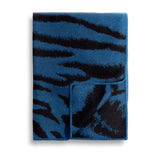 Tiger Jacquard Throw in Blue - Woven from Baby Alpaca Wool - Blue Tones for a Sense of Warmth & Style