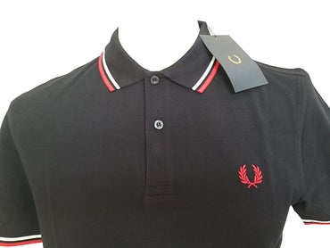 Polo Fred Perry Marine/Rouge/Blanc