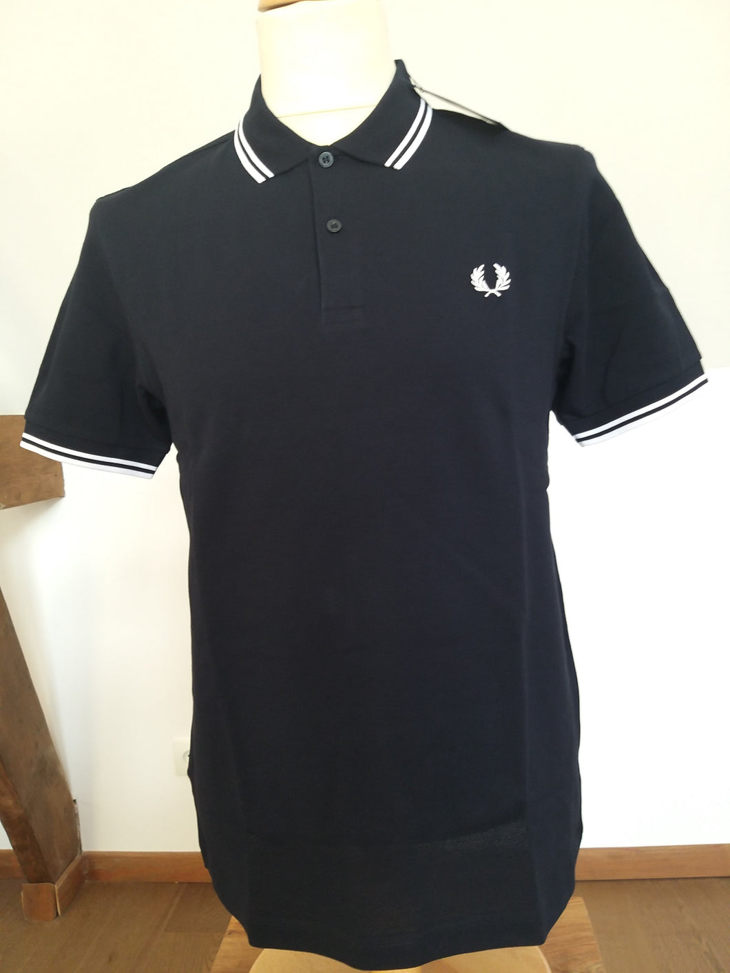 Polo Fred Perry Marine/Blanc