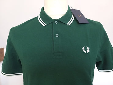 Polo Fred Perry Vert/Blanc
