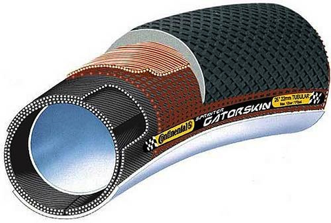 "Continental Sprinter Gatorskin Tubular tire 28""x 25mm Black-DuraSkin"