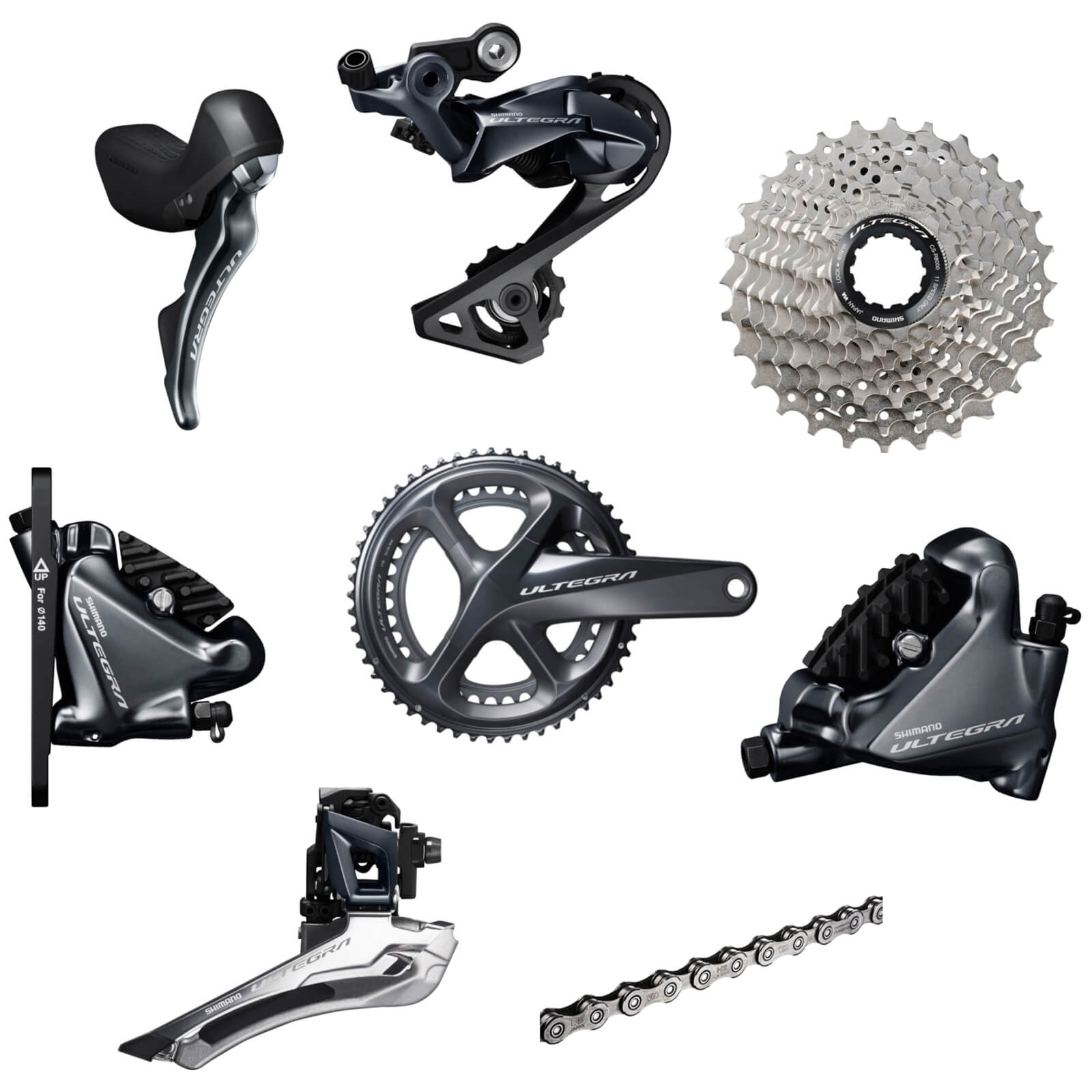Shimano Ultegra R8020 Mechanical Groupset - Hydraulic Flat Mount Brakes