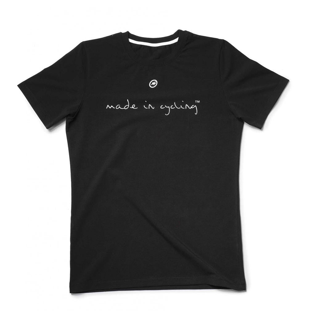 "Assos Men's SS T-Shirt ""Made in Cycling"" front black"