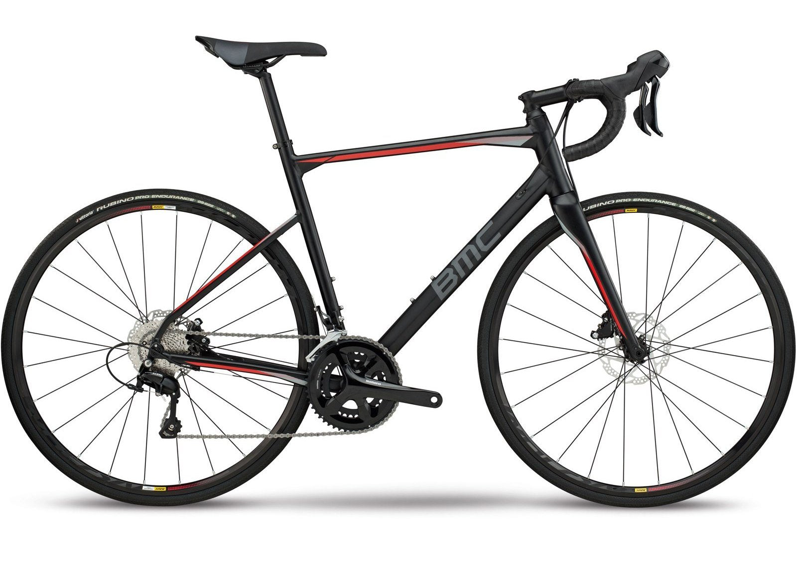 2018 BMC Roadmachine 03 Disc ONE - 105 Aluminium Road Bike - Black Grey