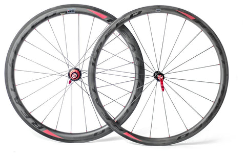 Real Speed RS 3/4 Carbon Clincher Wheelset - Racer Sportif
