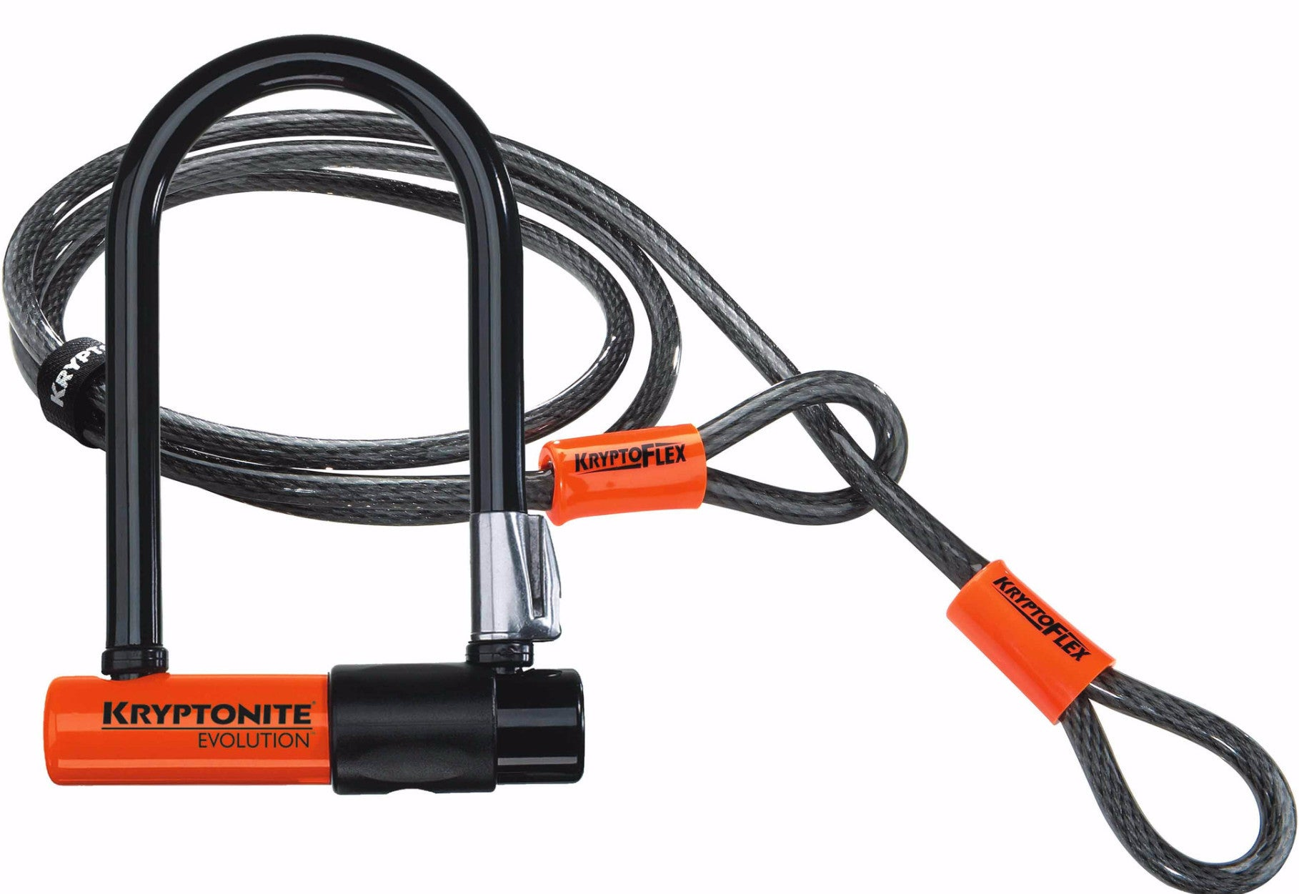 Kryptonite Evolution Mini 7 U Lock & Cable Bicycle Lock - Racer Sportif